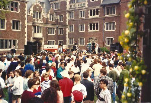Lower Quad during Spring Fling at Penn 1991