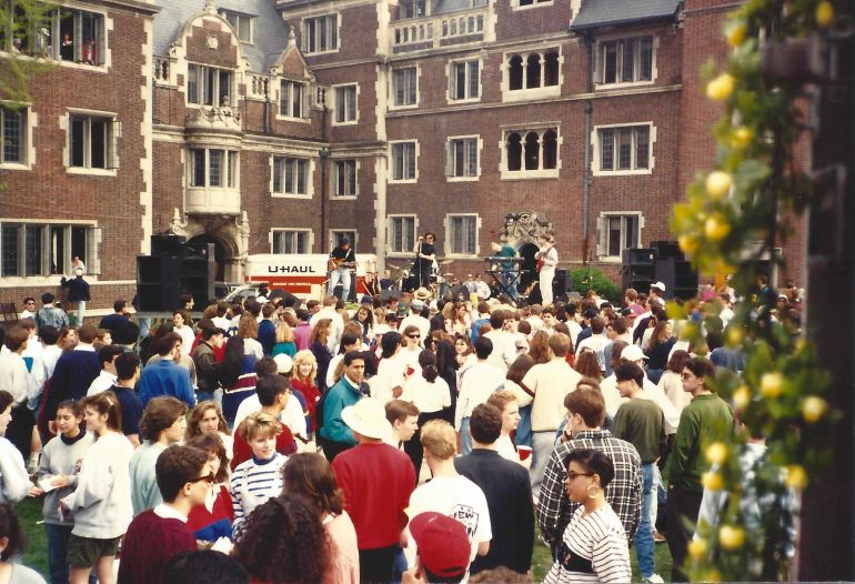 Lower Quad during Spring Fling at Penn 1991