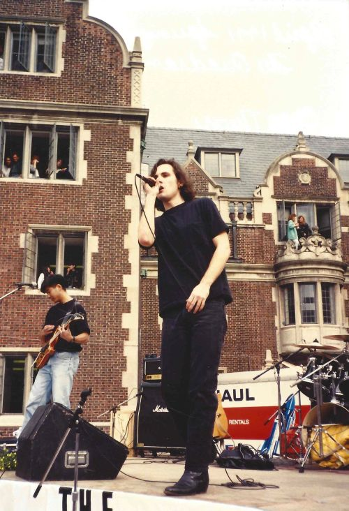 Chaos Theory performs in the Lower Quad for Spring Fling 1991