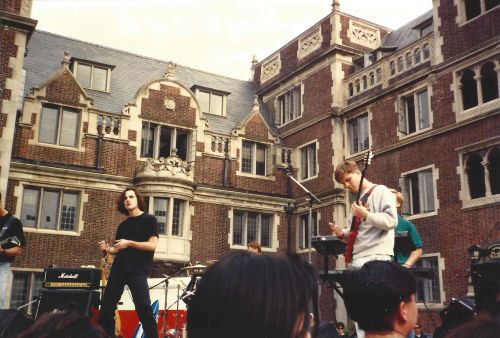 Chaos Theory performs in the Lower Quad during Spring Fling 1991