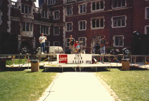 Student band performs in the Quad for Spring Fling 1991 at Penn