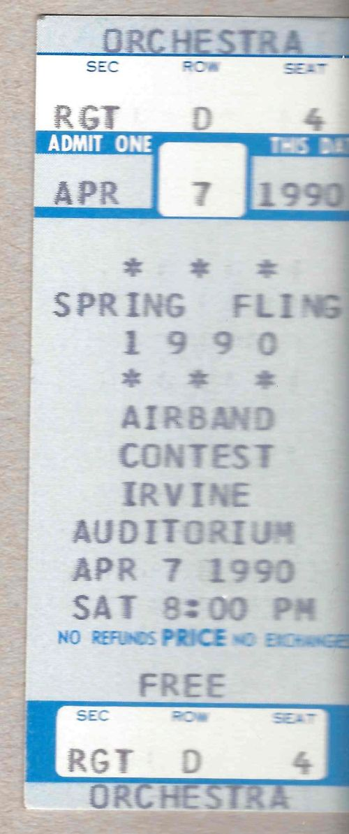 Spring Fling ticket