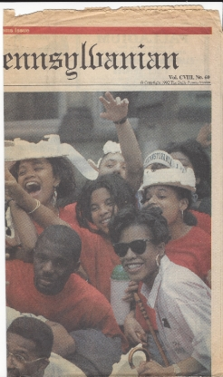 Front page of The Daily Pennsylvanian the day after Hey Day in April 1992 - saved by Jessica Zirkel-Rubin