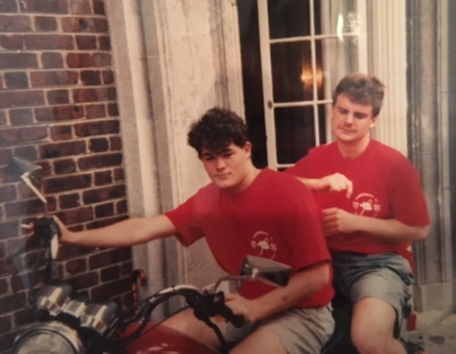 Tim (?) and Sibby Browne, celebrate Hey Day at Penn, April, 1992, photo courtesy of Zach Conen