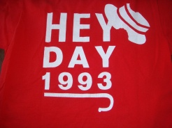 Back of our Hey Day shirt, Penn 1993, photo courtesy of Allison Davis Talibi