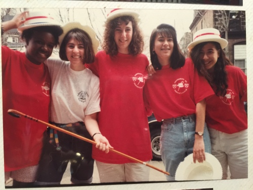 Photo courtesy of Joanna Kwa, L-R Stephanie Alexander, Laura Appleman, '94, Lisa Bardfeld Shapiro, Ellen, Joanna Kwa
