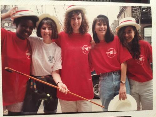 Photo courtesy of Joanna Kwa, L-R Stephanie Alexander, Laura Appleman, '94, Lisa Bardfeld Shapiro, Ellen, Joanna Kwa