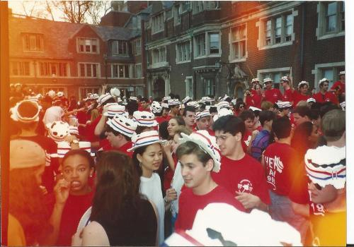 Hey Day for Penn 1993 in the Lower Quad. Photo courtesy of Allison Davis Talibi