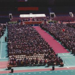 Penn Commencement on Franklin Field, May 17, 1993. Photo courtesy of Kiera Reilly, C'93.