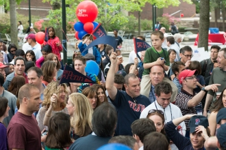 Penn Class of 1993 Celebrates their 20th Reunion during the Alumni Parade at Alumni Weekend, May, 2013.