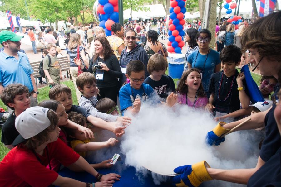 Programming for kids during Alumni Weekend at Penn, May 2013.