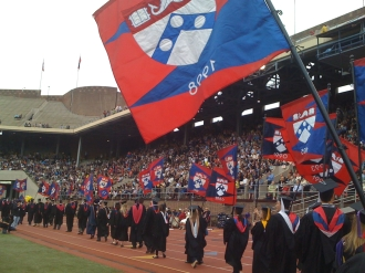 The alumni class representatives march into Franklin Field for Commencement at Penn, May 2010.