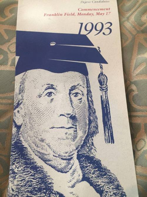University of Pennsylvania Commencement Program photo courtesy of Allison Feder Fliegler for May 17, 1993