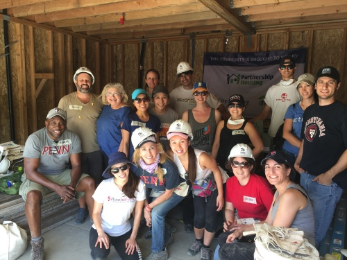 Penn Serves LA helps Habitat for Humanity Los Angeles - volunteering Penn Alumni with Habitat LA