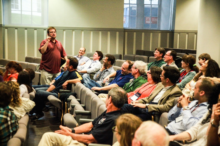 Frank Luntz, C'84, during the political campaigning lecture sponsored by the Penn Class of 1993 during Alumni Weekend, May, 2013.