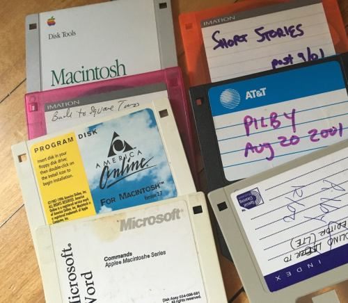 Caren Lissner's floppy disks from her student days at Penn