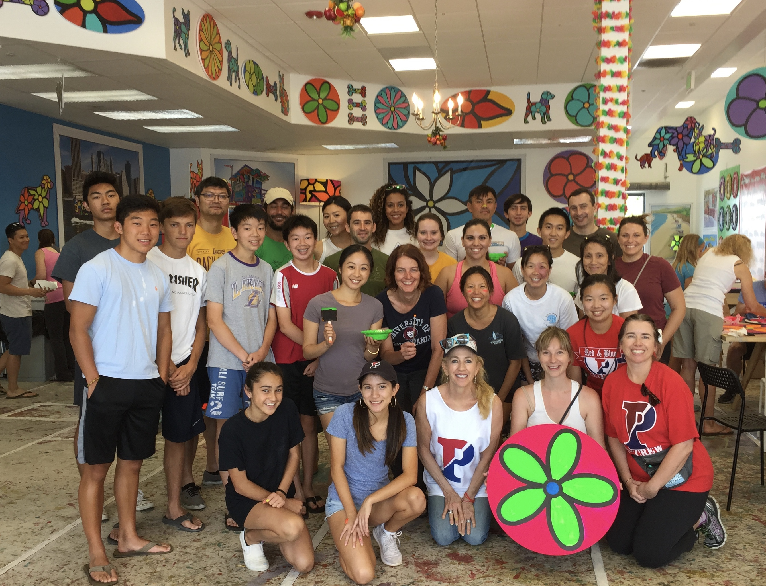 Penn Serves LA Paints at Portraits of Hope in El Segundo