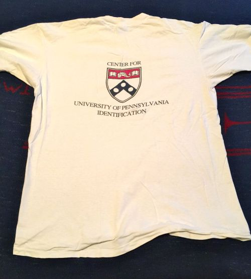 CUPID 1990 t-shirt, back view, from Howard Levene, ENG'93, from University of Pennsylvania