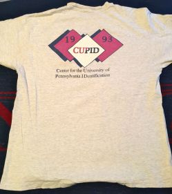 CUPID t-shirt 1993, back view, from Howard Levene, ENG'93 at the University of Pennsylvania.