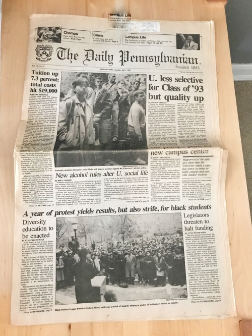 The full front page of the July 1, 1989 issue of The Daily Pennsylvanian