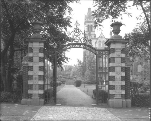 Class of 1893 gate university of pennsylvania, photo from University Archives #93tothe25th