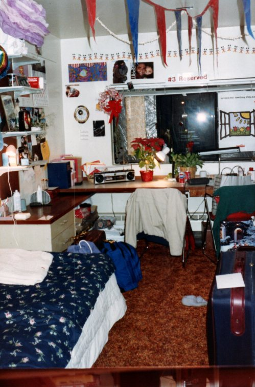 Dorm room in Hill House at the University of Pennsylvania, January 1990 #93tothe25th