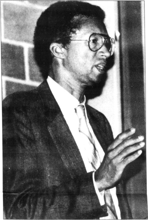 Arthur Ashe speaking at the University of Pennsylvania November 4, 1992