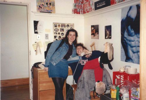 Kiera Reilly and Lisa Bardfeld Shapiro in Brooks-Leidy in the Upper Quad at Penn #93tothe25th