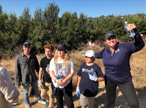 Penn Serves LA helps with TreePeople Los Angeles volunteering Penn Alumni