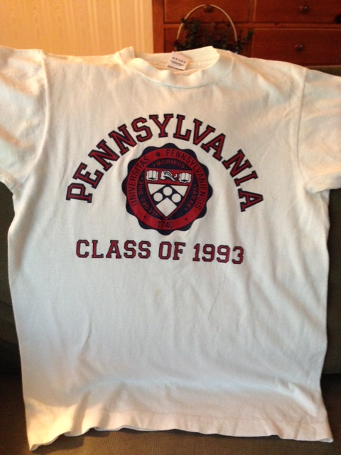Pennsylvania Class of 1993 t-shirt #93tothe25th