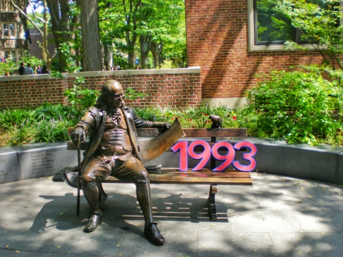 Ben on the Bench at the University of Pennsylvania #93tothe25th