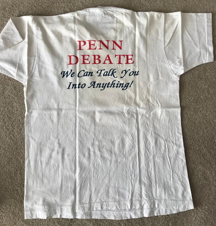 Penn Debate t-shirt #93tothe25th