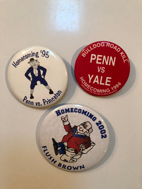 Penn Homecoming buttons