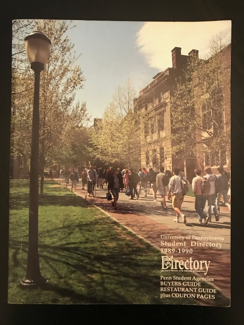 Penn Student Agencies' Penn Student Directory 1989 University of Pennsylvania #93tothe25th