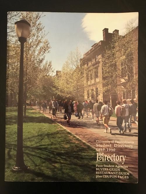 Penn Student Agencies' Penn Student Directory 1989 University of Pennsylvania #93tothe25th