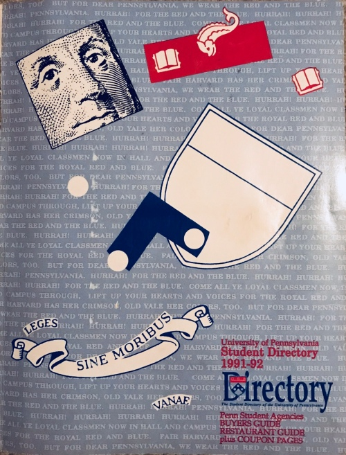 Penn Student Agencies 1991 Penn Student Directory Kiera Reilly University of Pennsylvania #93tothe25th