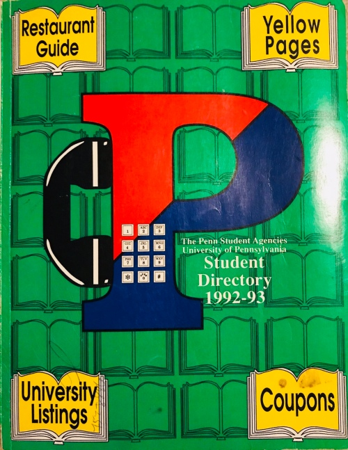 Penn Student Agencies 1992 Penn Student Directory University of Pennsylvania Kiera Reilly #93tothe25th