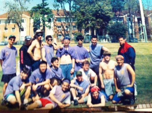 Penn's Ultimate Frisbee Team the Void during Spring Break 1993