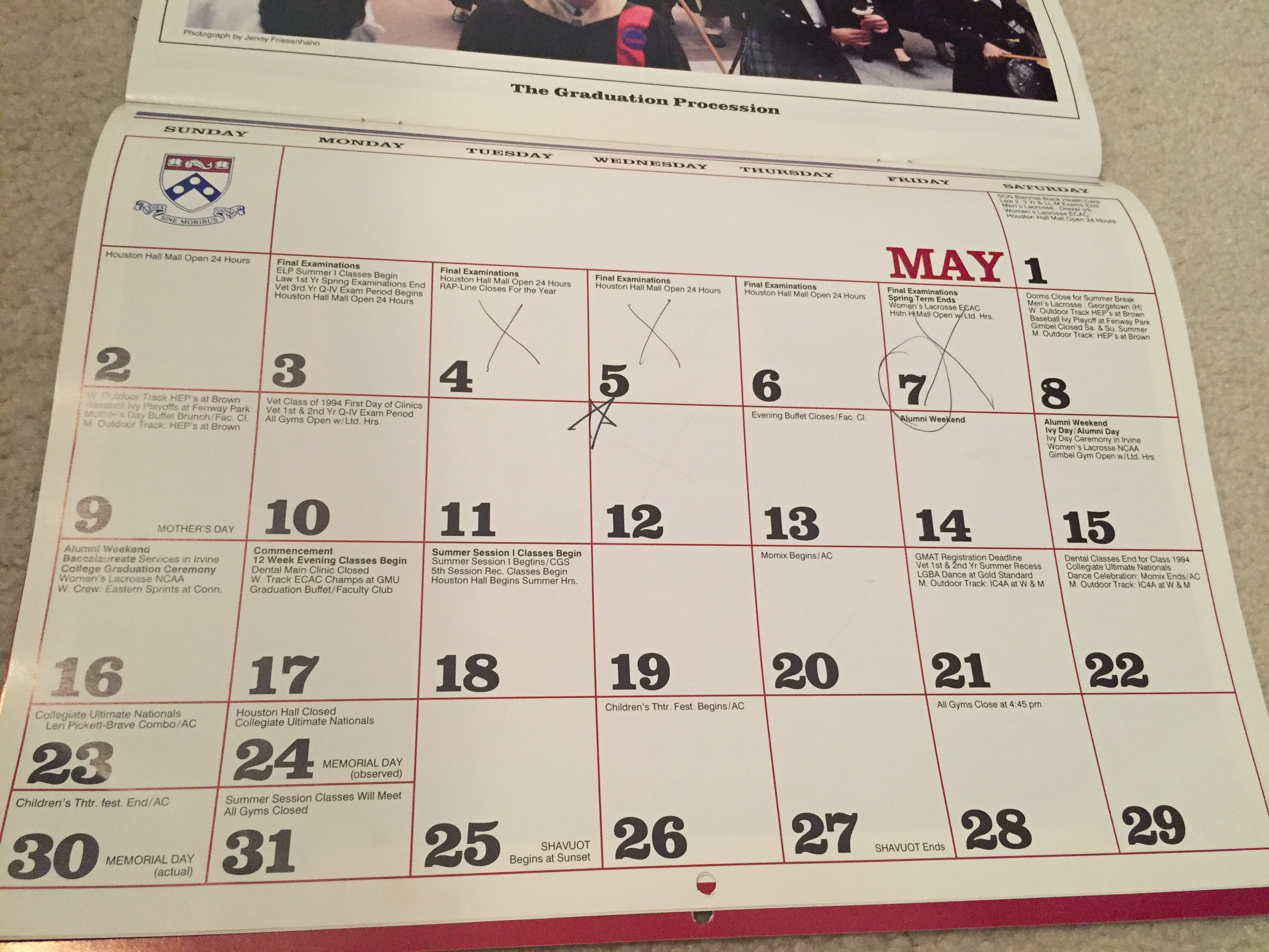 Penn Calendar.Mark It On The Calendar 30 Weeks To Go Frankly Penn