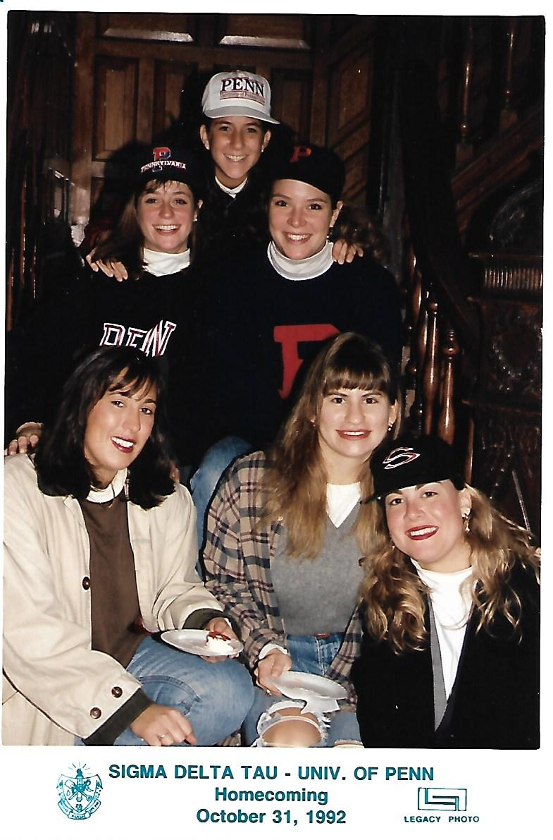 Senior year at SDT House for Homecoming 1992