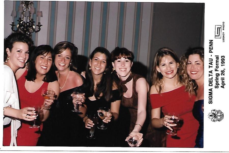 SDT Spring formal at Penn 1993 housemates