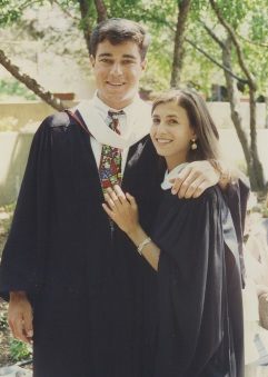 Debbi (Stoll) Stern and Brian Stern at Penn Commencement, May 1993
