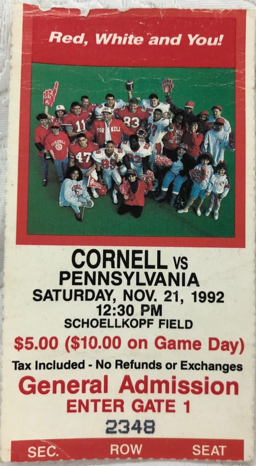 Penn Football vs Cornell 1992 Ivy League Football