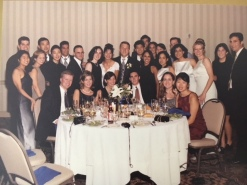 Liz and Derek Cribbs' wedding day with many Penn alumni in attendance