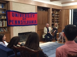 Richard Walden of Operation USA speaks to the Penn Serves LA group