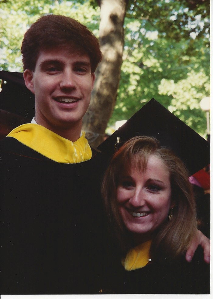 Penn 1993 couple at commencement Michele and David Souder