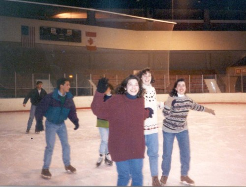 Class of 1993 Feb Club skating at the 1923 Ice Rink