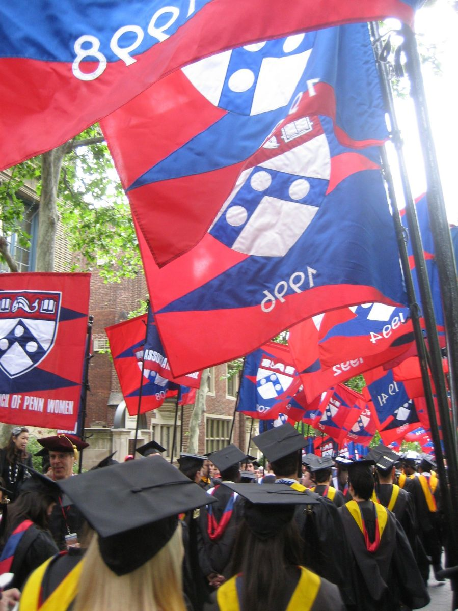 Penn Commencement 2009 parade of classes