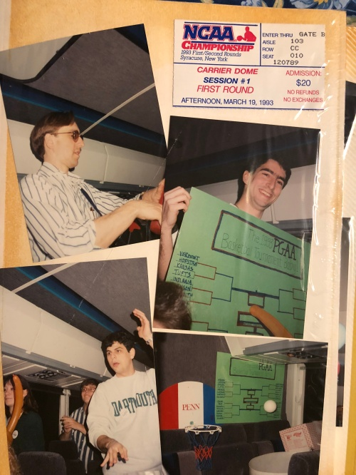 Penn Band travels to Syracuse for the NCAA Men's Basketball tournament 1993
