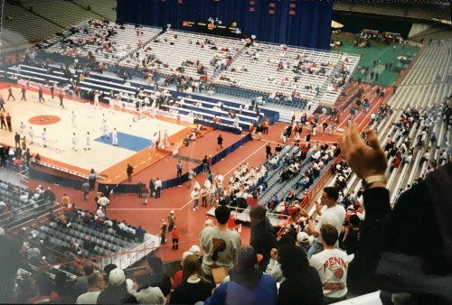 Penn student section at the Carrier Dome
